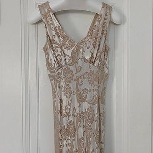 Floor length brocade gown